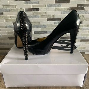 NINE WEST platform stiletto heels shoes size 6M